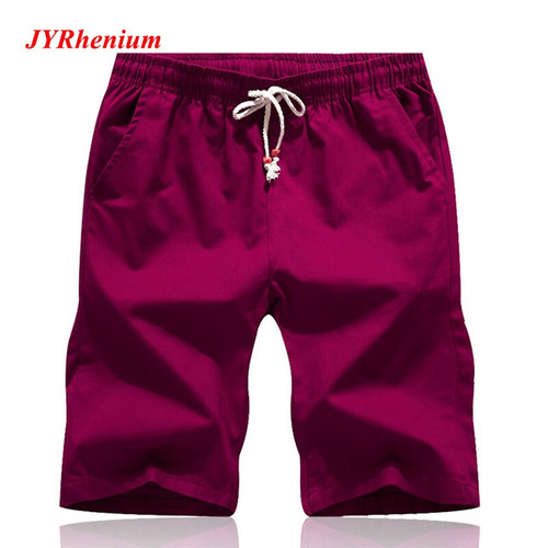 2019 New Summer Big Size M-5XL Shorts Men 100% Cotton Sports Beach Shorts Homme Quality Bottoms Elastic Waist Brand Boardshorts