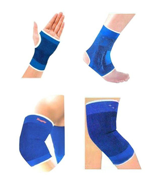 Knee Ankle Elbow and Palm Supports (combo set of 4)