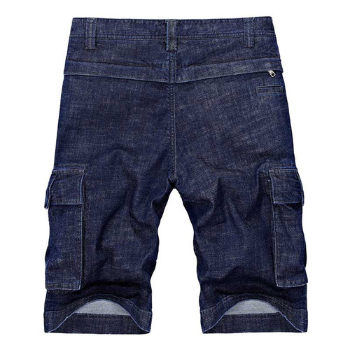 New Fashion Summer Jeans Short Pants Men Denim Cargo Shorts with Multi Pocket Cotton Cowboy Beach Shorts Boardshort Male Clothes