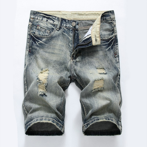 Hole Denim Shorts Men Casual Mens Summer Shorts 2017 Cotton Beach Short Pants Homme Street Popular Short Jeans Boardshorts