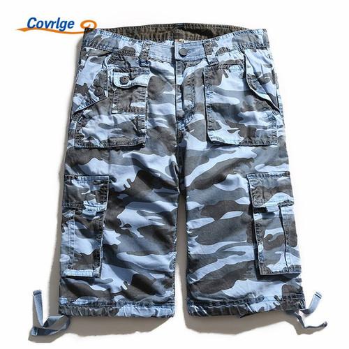 Covrlge Men Shorts Summer Casual Plus Size Men's Camouflage Short Pants Fashion Loose Beach Shorts Military Boardshorts MKD017