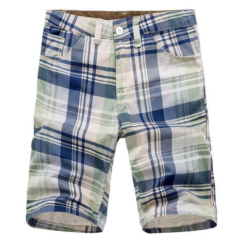 Summer Cotton Shorts Men Fashion Breathable Male Casual Lattice Cargo Shorts Brand Boardshorts Beach Short Pants Homme ,GA297