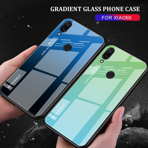 Glass Case For Xiaomi Redmi Note 7 6 5 Pro 6A 5 Plus Cover Xiomi Phone Case For Xiaomi Mi 8 A2 Lite 9 SE A1 Max 3 Pocophone F1