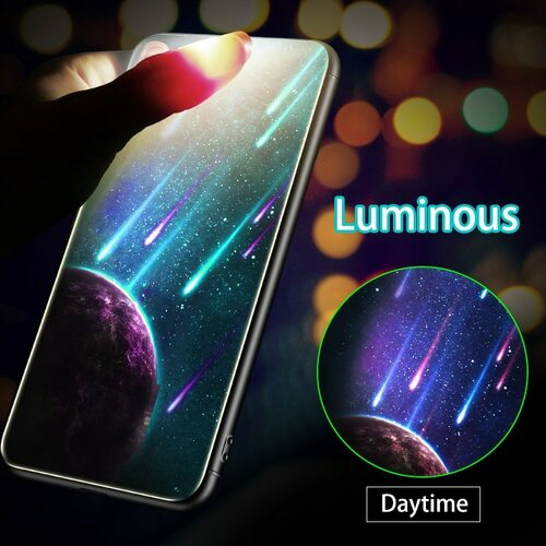 Luminous Glass Case For Xiaomi Mi 9 8 SE 8 Lite A1 A2 Lite Cover Phone Case For Xiaomi Redmi 5 Plus 6A 6 Pro Note 7 5 Pro Coque