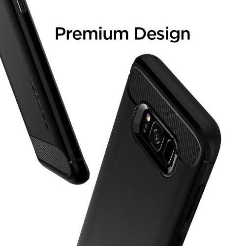 100% Original SPIGEN Rugged Armor Case for Samsung Galaxy S8 (5.8 inch) with Retail Package