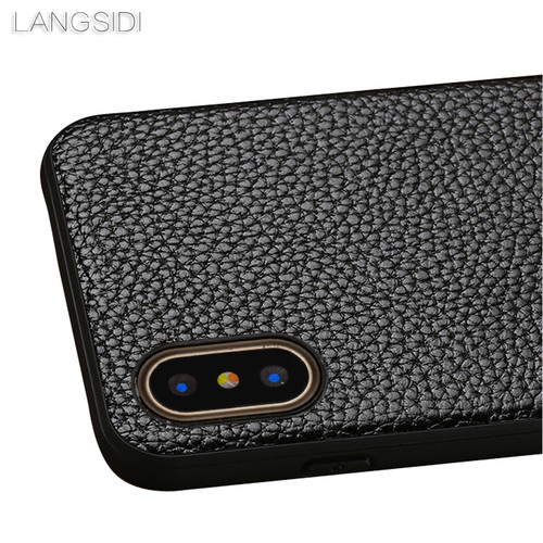 LANGSIDI brand phone case Litchi grain full-wrapped phone case For iphone 5 phone case full handmade custom processing