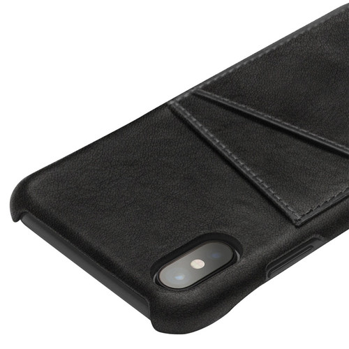 QIALINO Fashion Luxury Genuine Leather Case for iPhone X Card Slot Handmade Ultrathin Phone Bag Back Cover for iPhone X 5.8 inch