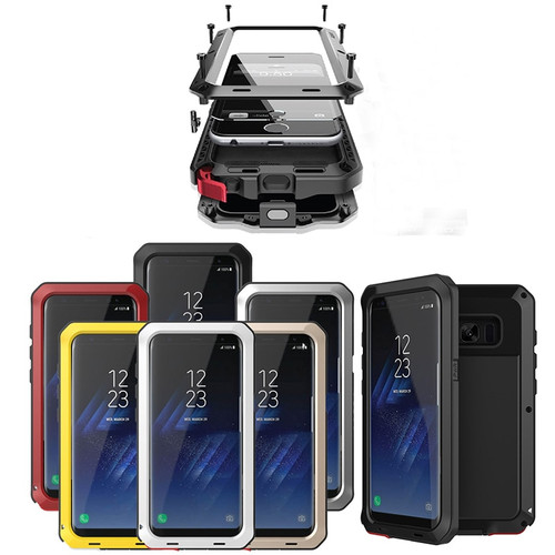 Shockproof 3-Layers Hybrid Phone Cases for Samsung Galaxy S8 S7 S6 Edge Plus S5 S4 Note 3 4 5 Waterproof PC+TPU case