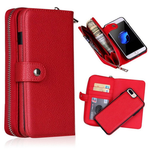 Detachable Zipper Leather Wallet Case For Samsung Galaxy S10 S10E S9 S8 S7 S6 Edge Plus S4 Note 9 8 Multifunction Handbag Case