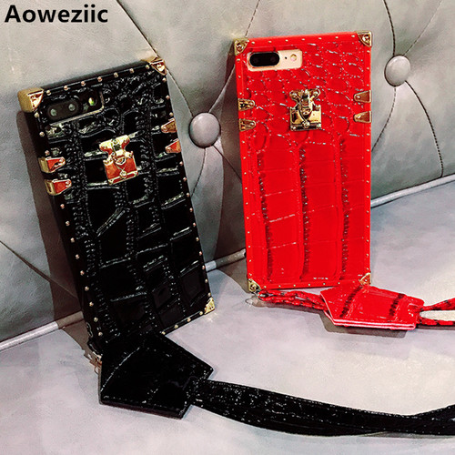 Aoweziic New Top Fashion Crocodile Pattern Fitted Case For iphone X XS MAX XR 7 8plus 6S+ Soft TPU Back Cover Phone Fundas case