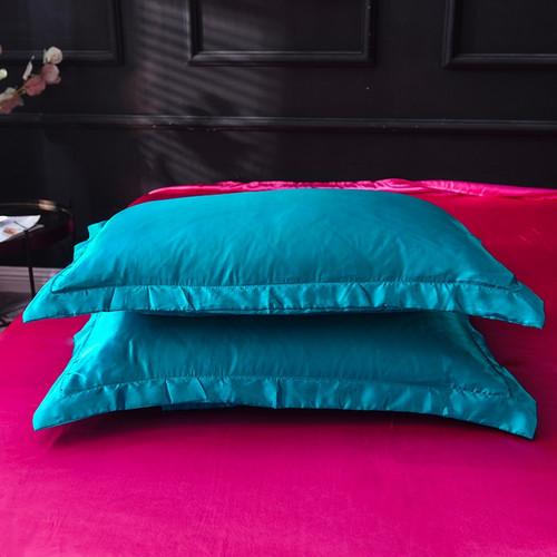 100% pure satin silk bedding set,Home Textile King size bed set,bedclothes purple duvet cover flat sheet pillowcases Wholesale