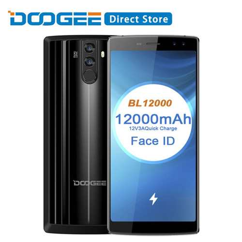 DOOGEE BL12000 Android 7.0 12000mAh Fast Charge 6.0 18:9 FHD+ MTK6750T Octa Core 4GB RAM 32GB ROM Quad Camera 16MP Mobile Phone