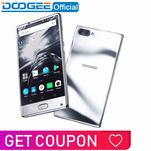 DOOGEE MIX bezel-less mirror silver Smartphone Dual Camera 5.5'' AMOLED MTK Helio P25 Octa Core 6GB+64GB Android 7 mobile phone