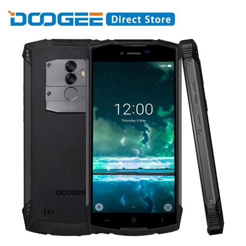 DOOGEE S55 Android 8.0 5.5'' Mobile Phone 4GB RAM 64GB ROM 5500mAh MTK6750T Octa Core Waterproof Fingerprint Dual 13+8 MP OTA