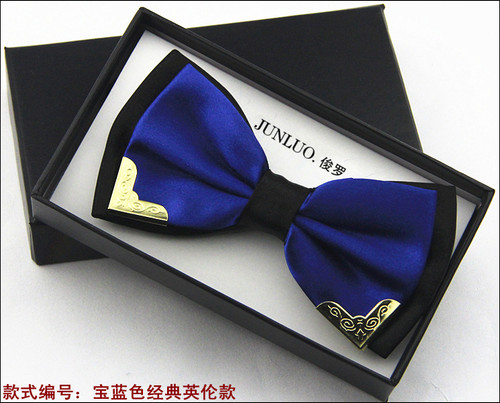 New Style Fashion Boutique Metal Head Bow Ties For Groom Men Women Butterfly Solid Bowtie Classic Gravata Cravat