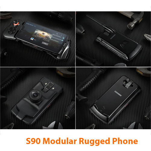 DOOGEE S90 Helio P60 Modular Rugged Smartphone Octa core NFC 6.18 FHD+ Android 8.1 6GB 128GB 16MP Camera 4G Mobile Phone