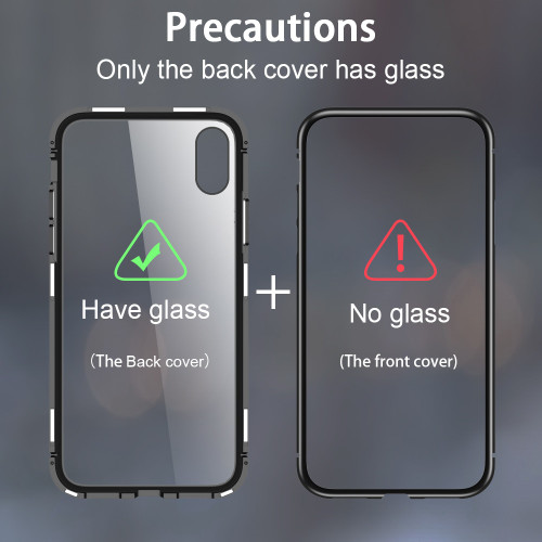 CASEIER Magnetic Adsorption Phone Case For iPhone X XS MAX XR Back Glass Funda For iPhone X 8 7 6s 6 Plus Case Capinha Couque