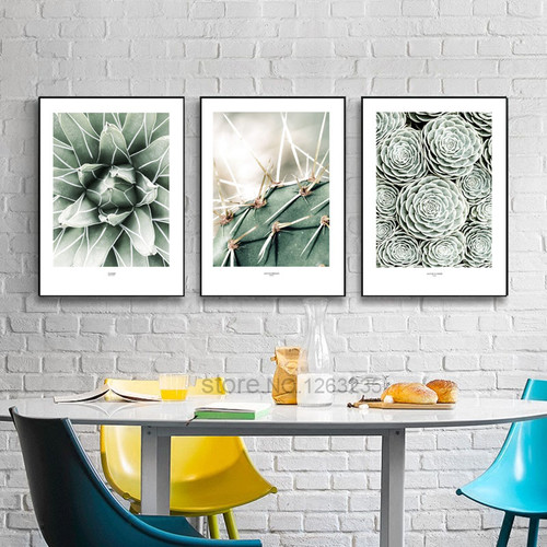 Nordic Poster Cactus Wall Pictures For Living Room Green Plants Wall Art Canvas Painting Cuadros Picture Posters Planta Unframed