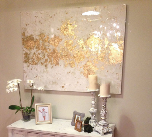 Handmade high quality thick knife abstract oil painting White and Gold abstract on Canvas Painting Decor Oil Painting artwork