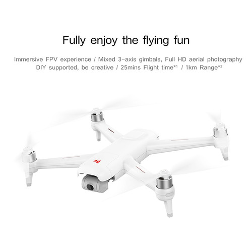 Xiao MI FIMI A3 RC Drone 5.8G GPS 1KM FPV With HD 1080P Gimbal Camera 2-axis Quadcopter RTF