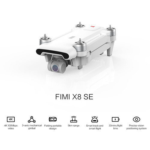 Xiao Mi FIMI X8 SE RC Drone with 4K HD Camera Extra Batteries 5KM FPV 3-axis Gimbal GPS Quadcopter 33mins Flight RTF