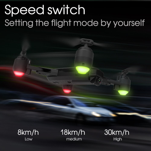 SHRC H1 Drone WIFI 1080P Camera FPV Altitude Hode Optical Flow Foldable Headless Mode RC Quadcopter Selfie Drone with Camera HD