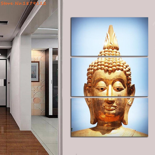 3 Panels Modern Wall Canvas Buddha Kinds of Lord Unframed Painting Home Decorative Art Picture Paint On Canvas Prints Poster