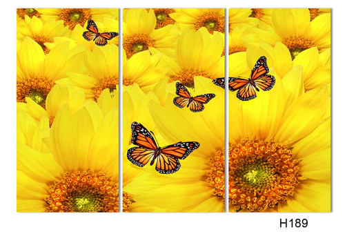 3 Panels Landscape Canvas Sunflower Painting abstract painting on canvas Decorative Wall Hanging Picture Art