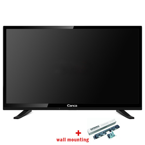 Canca 32 Inches Android TV 2.4GHz WiFi Quad Core Support DLNA Airplay 4GB ROM Supports DTB Smart Media Player Monitor LED TV