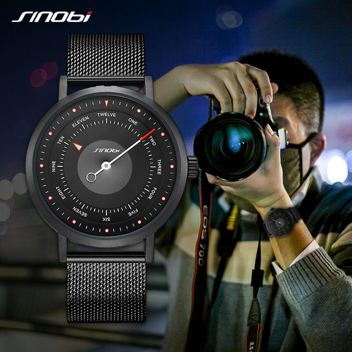 Watches Men SINOBI Brand Rotate Creative Men Sport Watches Men's Quartz Clock Man Casual Military Waterproof Wrist Watch Relogio