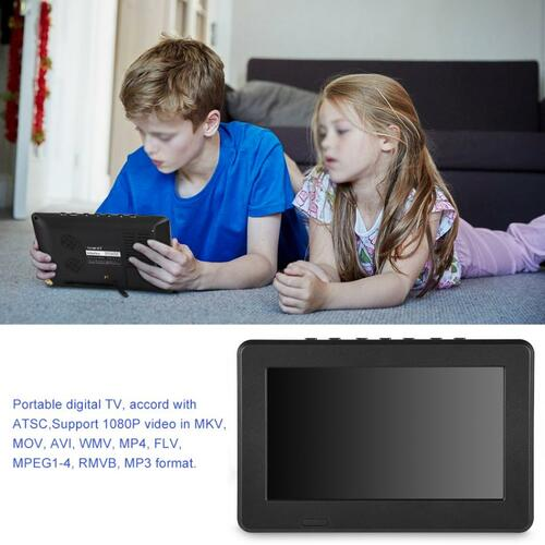 "LEADSTARTelevision ATSC 10"" 16:9 Digital TV TFT LED 1080P HDMI Television Video Player US Pug"