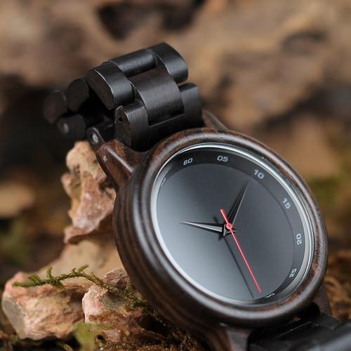 reloj mujer BOBO BIR Wood Watch Men New Black Wooden Strap Quartz Watches Analog Luxury Gifts Male Relogio C-P10 Drop Shipping