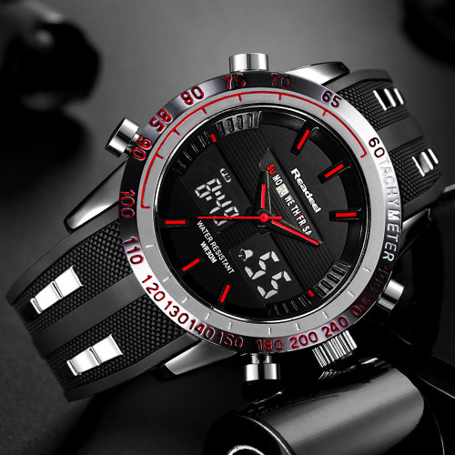 Brand New Men Sports Watches Waterproof Mens Military Digital Quartz Watch Alarm Stopwatch Dual Time Zones relogio masculino