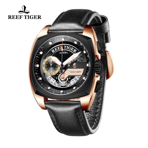 Reef Tiger/RT New Fashion Sport Watch Men Military Watch Waterproof Chronograph Quartz Watches relogio masculino 2019 RGA3363