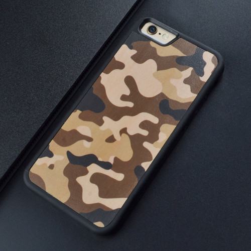 Camouflage pattern design Color printing Carved Original Wood Phone Cases For Iphone 6 S 7 8 plus X Wooden case