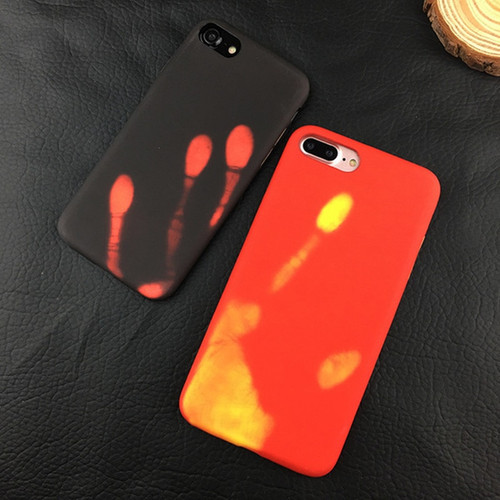 Newest Fashional Thermal Sensor Case for iphone X 7 7 Plus 6 6s Plus Thermal Heat Induction Phone Case fundas protective cover