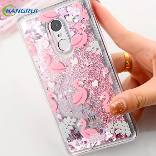 Glitter Silicone Phone Case For Xiaomi Redmi 7 4X 5 Plus 6A 6 Pro Liquid Quicksand Cover on Redmi Note 5 6 7 Pro 4X Cases Coque