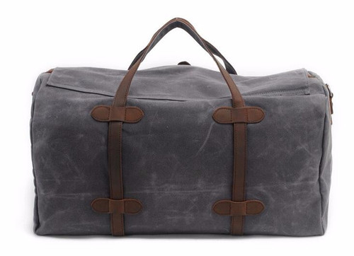 Vintage Wax Canvas Luggage bag Men Travel Bags Carry on Large Men Duffel Bags shoulder Weekend bag Overnight  Big tote Handbag