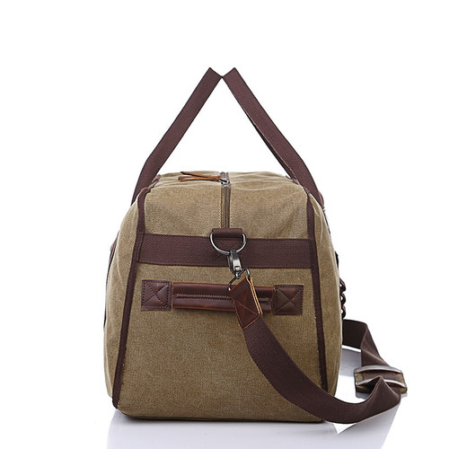 Canvas Leather Men Travel Bags Carry on Luggage Bags Men Duffel Bags Travel Tote Large Capacity Weekend Bag Overnight