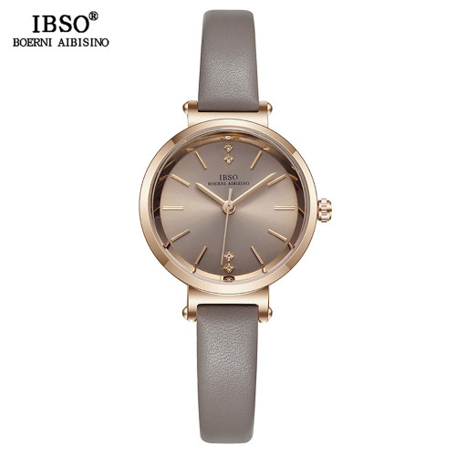 IBSO 8 MM Ultra-Thin Wrist Women Watches Luxury Female Clock Fashion Montre Femme 2019 Quartz Ladies Watch Relogio Feminino
