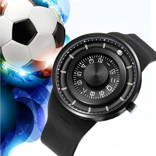 SKONE Creative Men Watch Ball Rotation Watches Men Luxury Brand Sports Watch Quartz Wristwatche Fashion Round rosefield  relogio
