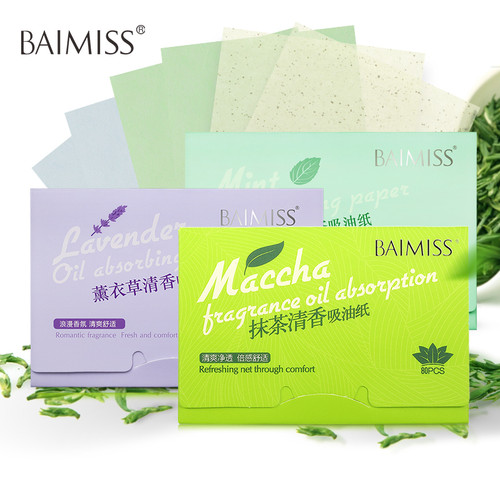 BAIMISS Facial Absorbent Paper Oil Absorbing Sheets Deep Cleanser Black Head Remover Acne Treatment Beauty Products 1PCS
