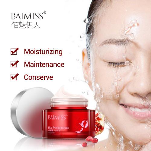 BAIMISS Red Pomegranate Face Cream Moisturizer Skin Care Refreshing Nourishing Anti Aging Wrinkle Facial Cream Acne Treatment