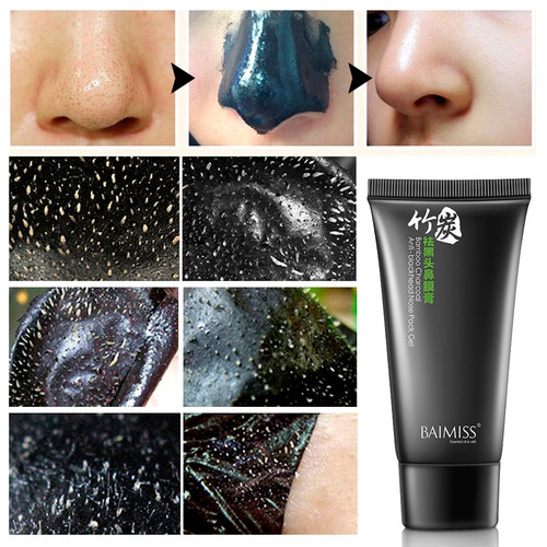 BAIMISS 2PCS Nose Blackhead Remover Face Mask Acne Treatment Mask Suction Black Mask Peeling Black Head Facial Mask Skin Care