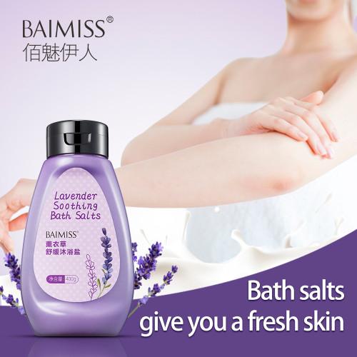 BAIMISS Lacender Soothing Bath Salts Oil Control Exfoliate Remove Acne Treatment Body Care With Bath Salt