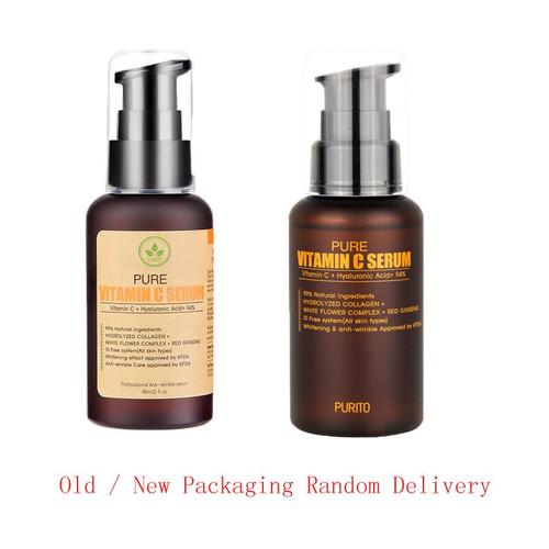 Best Korea Cosmetics PURITO Pure Vitamin C Serum 60ml Face Cream Anti Wrinkle Serum Acne Pimples Treatment Black Head Remover