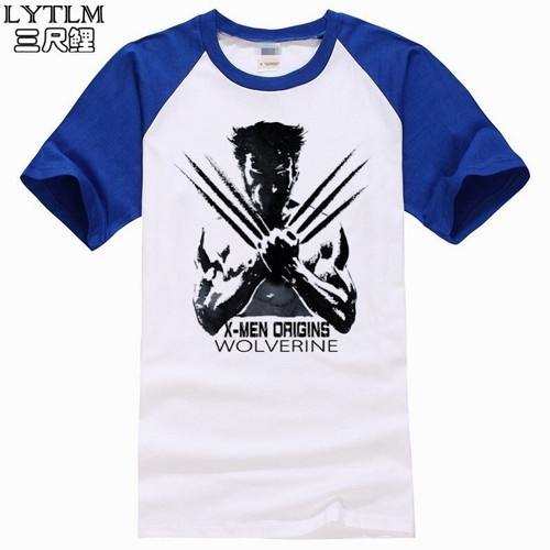 LYTLM Marvel Men Clothes X Men Wolverine Logan Vintage T Shirt Homme Funny T-shirt Men Combed 100 Cotton Avenger Tshirt for Men