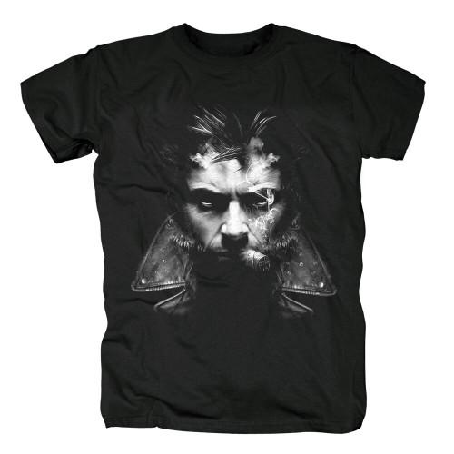 Bloodhoof Logan Howlett Hugh Jackman X-23 Fans Printed Black Men's Fashion T Shirt Unisex Tops Tees Asian Size