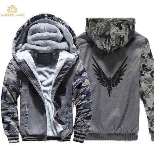 Logan Jake Paul Team 10 Animal Print 2019 Autumn Winter Thick Men Camouflage Hoodies Warm Men's Sweatshirts Hip Hop Jackets