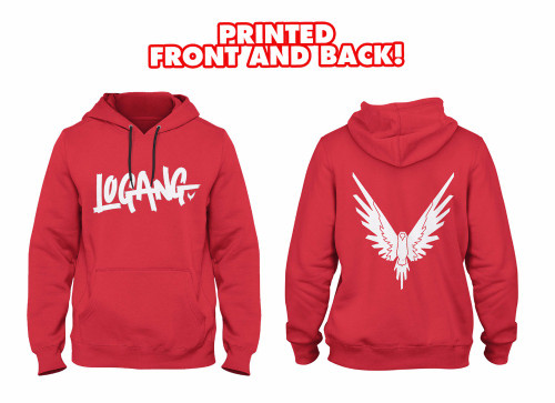 New winter sweatshirts men Logang Hoodie printed FRONT AND BACK with Eagle Jake & Paul & Logan cotton fleece hoodie sweatshirt
